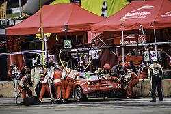 October 7, 2017 - Petit Le Mans, USA - 63 SCUDERIA CORSE (USA) FERRARI 488 GT3 GTD CHRISTINA NIELSEN (DNK) ALESSANDRO BALZAN (ITA) MATTEO CRESSONI  (Credit Image: © Panoramic via ZUMA Press)