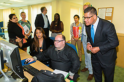 Give us a Chance hosts a ministerial visit by Employment Minister Alok Sharma MP, at an employment scheme run by L&Q housing<br /> association. Barking, London, May 24 2019.
