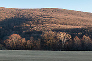 Cornwall, New York - A view of Clove Brook Farm with Schunnemunk Mountain in the background on Jan.24, 2018.