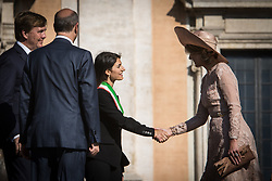 June 20, 2017 - Rome, Italy, Italy - The Mayor of Rome Virginia Raggi receives in the Royal King Willem Alexander and Queen Màxima on their official visit to Italy. (Credit Image: © Andrea Ronchini/Pacific Press via ZUMA Wire)