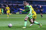 Forest Green Rovers George Williams(11) on the ball during the The FA Cup 1st round match between Oxford United and Forest Green Rovers at the Kassam Stadium, Oxford, England on 10 November 2018.
