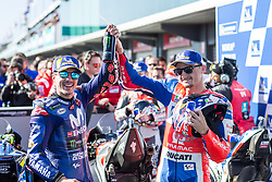 October 28, 2018 - Melbourne, Victoria, AUSTRALIE - MAVERICK VINALES - SPANISH - MOVISTAR YAMAHA MotoGP - YAMAHA.JACK MILLER - AUSTRALIAN - ALMA PRAMAC RACING - HONDA (Credit Image: © Panoramic via ZUMA Press)