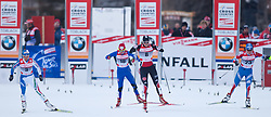 05.01.2011, Nordic Arena, Toblach, ITA, FIS Cross Country, Tour de Ski, Qualifikation Sprint Women and Men, im Bild start quaterfinal Arianna Follis (ITA, #18), Eva Nyvltova (CZE, #8), Denise Herrmann (GER, #42) und Natalja Iljina (RUS, #37), EXPA Pictures © 2011, PhotoCredit: EXPA/ J. Groder