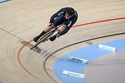 March 2, 2018 - Apeldoorn, Netherlands - New Zealand's Edward Dawkins take part in the Men's sprint qualifying during the UCI Track Cycling World Championships in Apeldoorn on March 2, 2018. (Credit Image: © Foto Olimpik/NurPhoto via ZUMA Press)