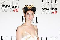 Tali Lennox, ELLE Style Awards 2016, Millbank London UK, 23 February 2016, Photo by Richard Goldschmidt
