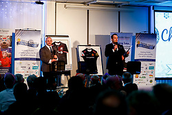 David Flatman and Kai Horstmann talks during the annual Exeter Chiefs Foundation Christmas Dinner at Sandy Park - Ryan Hiscott/JMP - 07/12/2018 - RUGBY - Sandy Park - Exeter, England - Exeter Chiefs Foundation Christmas Dinner with David Flatman