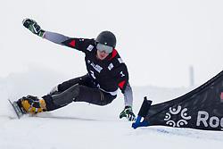 Andrey Sobolev (RUS) during Final Run at Parallel Giant Slalom at FIS Snowboard World Cup Rogla 2019, on January 19, 2019 at Course Jasa, Rogla, Slovenia. Photo byJurij Vodusek / Sportida