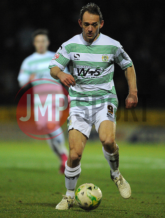 Yeovil Town's James Hayter  - Photo mandatory by-line: Harry Trump/JMP - Mobile: 07966 386802 - 03/03/15 - SPORT - Football - Sky Bet League One - Yeovil v Walsall - Huish Park, Yeovil, England.