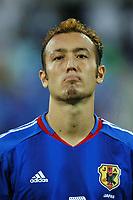 "12/08/04 - THESSALONIKI - GREECE -  - JAPAN OLYMPIC MENS FOOTBALL TEAM -  <br />First match Group B - JAPAN () Vs. PARAGUAY -<br />At the THESSALONIKI ""KAFTATZOGLIO STADIUM"".<br />Min.= '   Japan player N*2 Tanaka MARCUS TULIO.<br />© Gabriel Piko / Piko-Press"