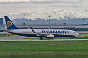 Ryanair Boeing 737-800 Next Gen, (EI-DHT ), ready for take off. at Malpensa (MXP / LIMC), Milan, Italy