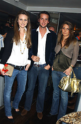 Left to right, BRYONY DANIELS, CHARLIE GILKES and STEPHANIE COATEN at the launch of a new bar Bardo, 101-105 Walton Street, London SW3 on 29th November 2005.<br /><br />NON EXCLUSIVE - WORLD RIGHTS
