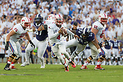 SMU Mustangs play the TCU Horned Frogs in the 95th meeting of the Battle for the Iron Skillet at Amon Carter Stadium in Fort Worth, TX on September 19, 2015