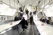 An escalator on the London Underground (tube)
