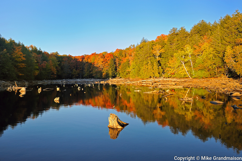 Paudash Lake in autumn<br /> Paudash Lake<br /> Ontario<br /> Canada