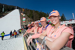 Manner hostesses during Flying Hill Team at 3rd day of FIS Ski Jumping World Cup Finals Planica 2012, on March 17, 2012, Planica, Slovenia. (Photo by Matic Klansek Velej / Sportida.com)