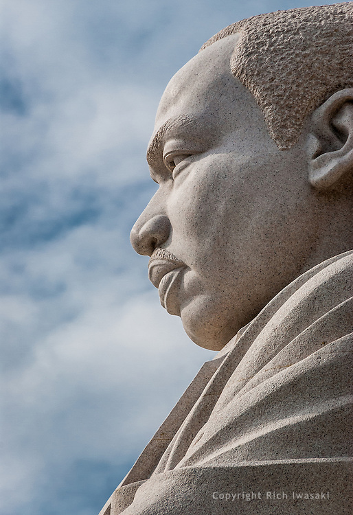 Close-up view of Martin Luther King Memorial, Washington, DC