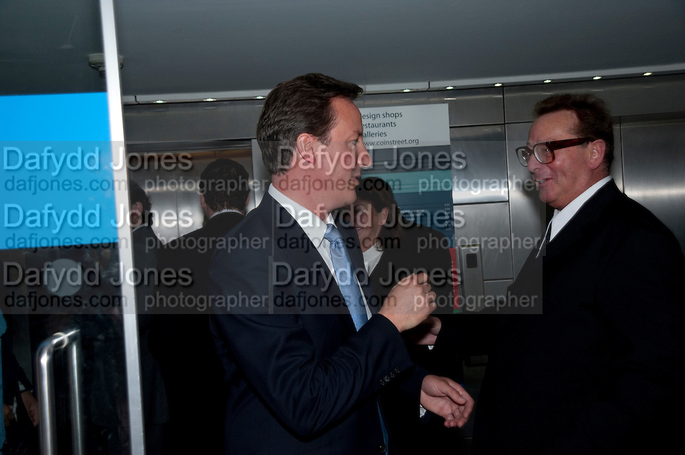 DAVID CAMERON; LORD SAATCHI Summer party hosted by Rupert Murdoch. Oxo Tower, London. 17 June 2009