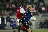 Fotball<br /> Belgia<br /> Foto: PhotoNews/Digitalsport<br /> NORWAY ONLY<br /> <br /> MONS, 05/06/2005<br /> <br /> RAEC MONS - CLUB BRUGGE<br /> <br /> RUNE LANGE - NIBOMBE DARE
