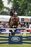 Mister Maccondy ridden by Polly Stockton in the Equi-Trek CCI-4* Show Jumping during the Bramham International Horse Trials 2019 at Bramham Park, Bramham, United Kingdom on 9 June 2019.