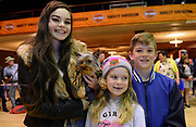 Tess, Lydia and Michael O'Sullivan, Valentia Island with their dog 'Pixie' at the dog show during Ireland Bikefest 2017 in the INEC, Killarney at the weekend.<br /> Photo Don MacMonagle