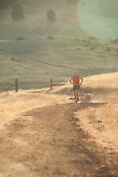 Tim Tweitmeyer trail running on the Cronan Ranch near Auburn, CA.