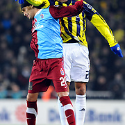 Fenerbahce's Andre Clarindo Dos SANTOS (R) and Trabzonspor's Gustavo COLMAN (L) during their Turkish superleague soccer derby match Fenerbahce between Trabzonspor at the Sukru Saracaoglu stadium in Istanbul Turkey on Sunday 30 January 2011. Photo by TURKPIX