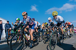 Megan Guarnier and Emma Johansson lead the chasing peloton over the VAMberg for the second time - Ronde van Drenthe 2016, a 138km road race starting and finishing in Hoogeveen, on March 12, 2016 in Drenthe, Netherlands.