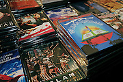 DVDs and CDs are on sale at the launch of the 'Palestine - The Album', a music collection recorded by many different artists in the Islamic Hip Hop scene in London, England, on Saturday, Jan. 6, 2007.  Islamic Hip Hop artists like the duo 'Blind Alphabetz', from London, feel more than ever the need to say what they think aloud. In the music industry the backlash of a disputable Western foreign policy towards Islamic countries and its people is strong. The number of artists in the European Union and the US taking this into consideration and addressing the current social and political problems within their lyrics is growing rapidly and fostering awareness for Muslim and others alike.
