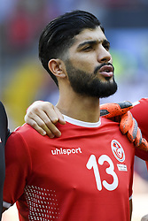 June 23, 2018 - Moscow, Russia - Ferjani Sassi of Tunisia during the 2018 FIFA World Cup Group G match between Belgium and Tunisia at Spartak Stadium in Moscow, Russia on June 23, 2018  (Credit Image: © Andrew Surma/NurPhoto via ZUMA Press)