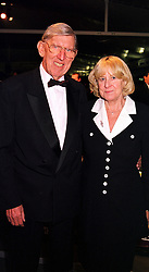 MR & MRS KEN TYRELL former F1 team owner, at a dinner in London on 25th January 2000.OAI 86