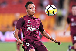 January 8, 2018 - Brisbane, QUEENSLAND, AUSTRALIA - Dane Ingham of the Roar (2) in action during the round fifteen Hyundai A-League match between the Brisbane Roar and Sydney FC at Suncorp Stadium on Monday, January 8, 2018 in Brisbane, Australia. (Credit Image: © Albert Perez via ZUMA Wire)