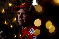 April 7, 2018 - Sakhir, Kingdom of Bahrain - SEBASTIAN VETTEL of Scuderia Ferrari is seen after the 2018 FIA Formula 1 Bahrain Grand Prix qualifying session at Bahrain International Circuit in Sakhir, Kingdom of Bahrain. (Credit Image: © James Gasperotti via ZUMA Wire)
