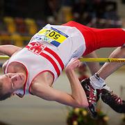 NLD/Apeldoorn/20180217 - NK Indoor Athletiek 2018, hoogspringen, Hidde ter Woord