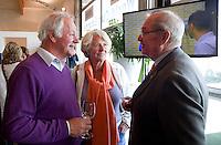 DEN HAAG  - Frans Spits, Hanny Leeflang en Ab van Grimbergen (r) World Cup Hockey. COPYRIGHT KOEN SUYK