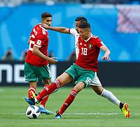Amine Harit (Morocco)<br /> Saint Petersburg 15-06-2018 Football FIFA World Cup Russia  2018 <br /> Morocco - Iran / Marocco - Iran <br /> Foto Matteo Ciambelli/Insidefoto