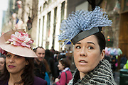 Two women in vintage hats.