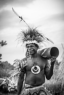 A Mbore man is dressed to celebrate the Mborena Kam New Testament dedication on July 26, 2017, in Madang Province, Papua New Guinea. The work to translate the New Testament into this language, one of more than 800 in Papua New Guinea, took over 30 years.
