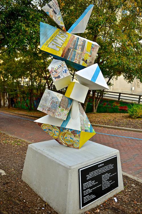 Akron Marathon sculpture next to Canal Park.