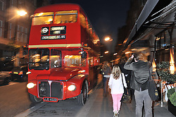 Routemaster bus at a reception hosted by Ralph Lauren Double RL and Dexter Fletcher before a private screening of Wild Bill benefitting FilmAid held at RRL 16 Mount Street, London on 26th March 2012.