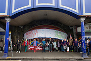 Thousands of south Londoners joined a community protest on the streets of Brixton, south London to protest about the regeneration of businesses by owner Network Rail's decision to redevelop property under the railway arches on Atlantic, forcing many to vacate and leave the area, removing the local spirit of Brixton and with the fear of being replaced with branded shops.