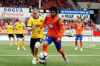 Fotball, <br /> Kvalifisering UEFA Europa League 28.07.2011  ,<br /> Aalesund v if elfsborg 4-0<br /> <br /> Jon Jonsson - if elfsborg<br /> Michael barrantes - aalesund<br /> Foto: Richard brevik , Digitalsport