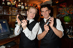 Left to right, FREDDIE FOX and TRISTAN GEMMILL at One Night Only at The Ivy in aid of Acting For Others supported by Tanqueray No.TEN Gin at The Ivy, 1-5 West Street, London on 1st December 2013.