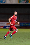 Crawley Town midfielder George Francomb(#4) during the EFL Sky Bet League 2 match between Crawley Town and Walsall at The People's Pension Stadium, Crawley, England on 16 March 2021.