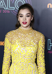 Celebrities attend the Nickelodeon HALO Awards 2016 held at Pier 36 in New York City, New York. 11 Nov 2016 Pictured: Hailee Steinfeld. Photo credit: Photo Image Press / MEGA TheMegaAgency.com +1 888 505 6342