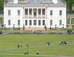 © Licensed to London News Pictures. 26/04/2019.<br /> Greenwich,UK. Queens House Greenwich Park. Cloudy but bright weather today in Greenwich Park, London as storm Hannah is set to hit the UK tonight or tomorrow with winds of up to 75mph. Photo credit: Grant Falvey/LNP