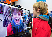 27/11/2016 REPRO FREE:  <br /> Cillian O'Connor (8) from Salthillenjoying his day inNUI Galway as part of the Galway Science & Technology Festival.<br /> <br /> Photo: Andrew Downes, Xposure.