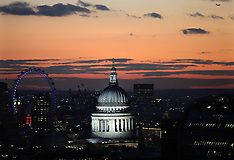 Winter sunset over St.Paul's Cathedral