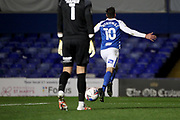 GOAL CELE 2-1 BIRMINGHAM CITY'S Lukas Jutkiewicz during the EFL Sky Bet Championship match between Birmingham City and Huddersfield Town at the Trillion Trophy Stadium, Birmingham, England on 28 October 2020.