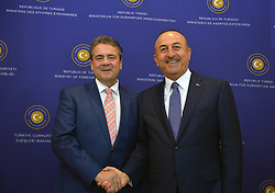 June 5, 2017 - Ankara, Türkiye - Foreign Minister of Germany Sigmar Gabriel meets with Turkish Foreign Minister Mevlud Cavusoglu at Ankara, Turkey. (Credit Image: © Depo Photos via ZUMA Wire)