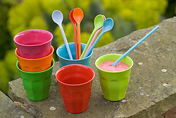 Picnic cups and spoons